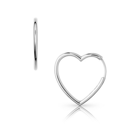 Endless Love Medium Heart Hoop Earrings, ${color}