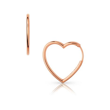 Endless Love Medium Heart Hoop Earrings, ${color}