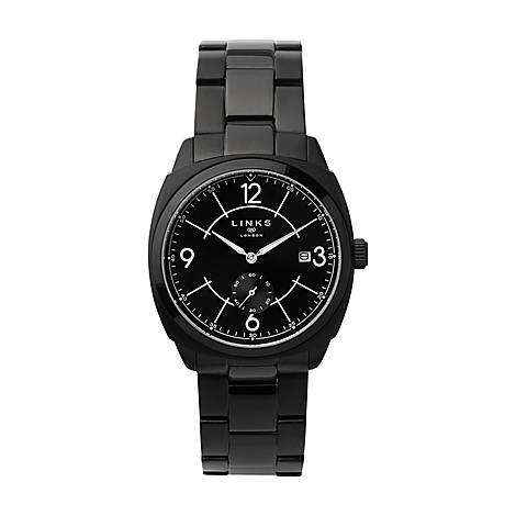 Brompton Black Steel Watch, ${color}