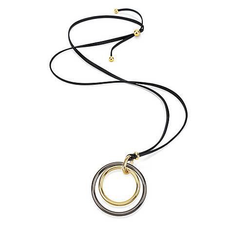 Metal Chic Cord Necklace, ${color}