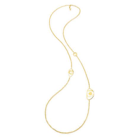 Talisman Stone Long Necklace, ${color}