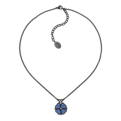 Heart4Heart Steel & Gemstone Necklace, ${color}