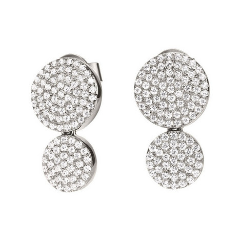 Discus Double Drop Earrings, ${color}