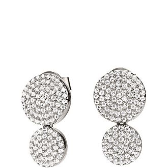Discus Double Drop Earrings
