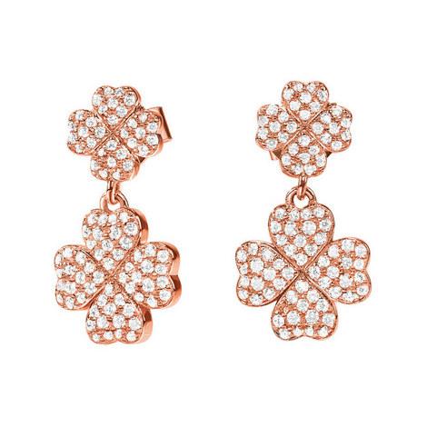 Heart4Heart Clover Drop Earrings, ${color}