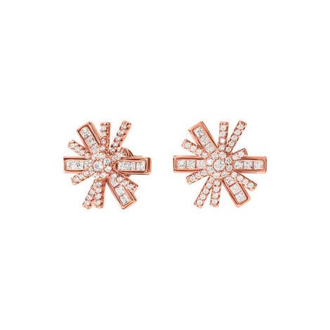 Star Flower Stud Earrings, ${color}