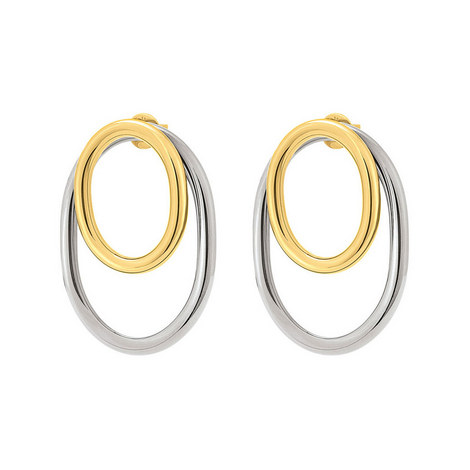Metal Chic Double Earrings, ${color}