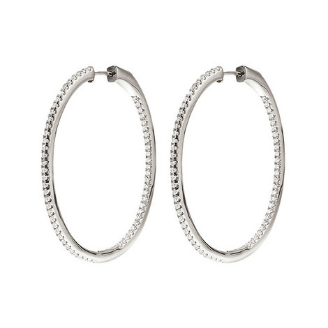 Fashionably Hoop Earrings Large, ${color}
