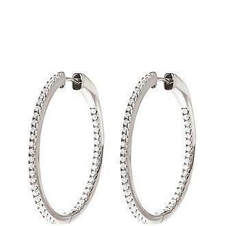 Fashionably Stone Hoop Earrings