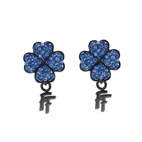 Heart4Heart Steel & Gemstone Stud Earrings, ${color}
