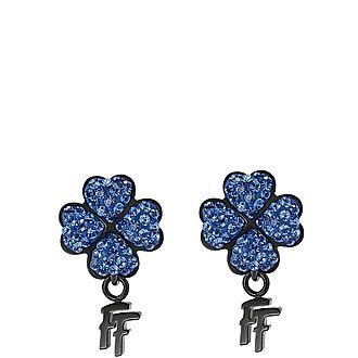 Heart4Heart Steel & Gemstone Stud Earrings