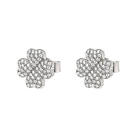 Mini Clover Stud Earrings, ${color}