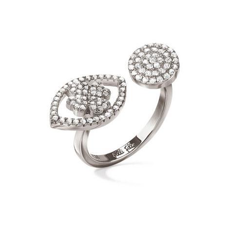Heart4Heart Mati Silver Ring, ${color}