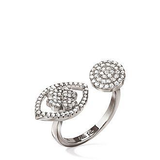 Heart4Heart Mati Silver Ring
