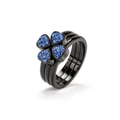 Heart4Heart Steel & Gemstone Ring, ${color}