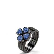 Heart4Heart Steel & Gemstone Ring