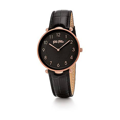 Lady Club Large Leather Watch, ${color}