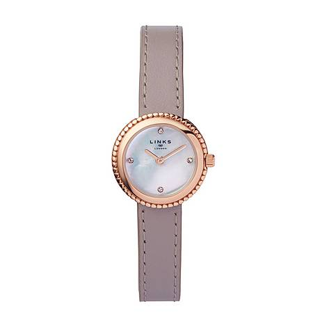 Effervescence Leather & Mother of Pearl Watch, ${color}