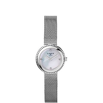 Effervescence Stainless Steel & Mother of Pearl Watch