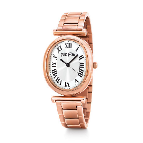 Metal Chic Oval Watch, ${color}