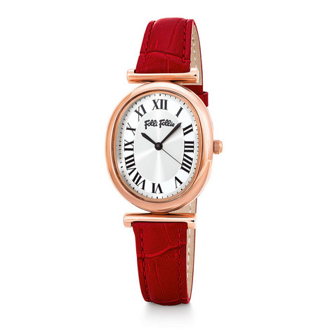 Metal Chic Leather Watch, ${color}
