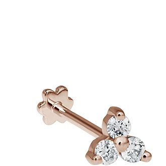 Large Diamond Trinity Threaded Stud