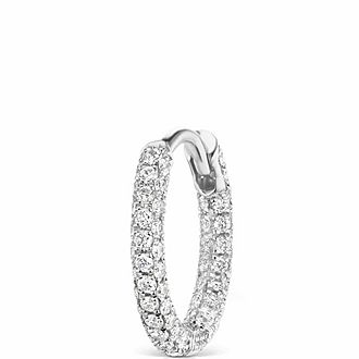 8mm Diamond Five Row Pave Ring