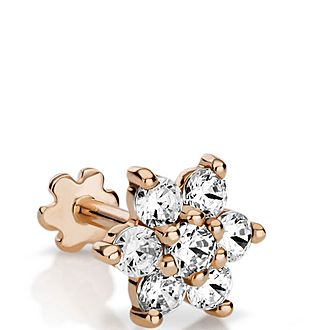 7mm Diamond Flower Threaded Stud