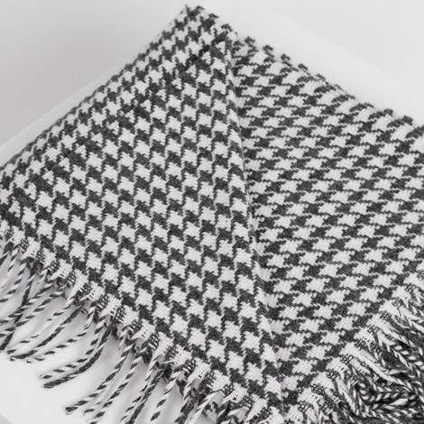Classic Houndstooth Double Twill Throw, ${color}