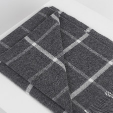 Classic Oxford Windowpane Throw
