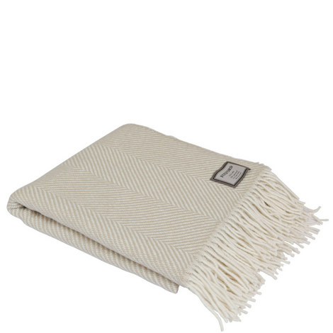 Bone Giant Herringbone Throw, ${color}