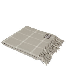 Bone Windowpane Throw