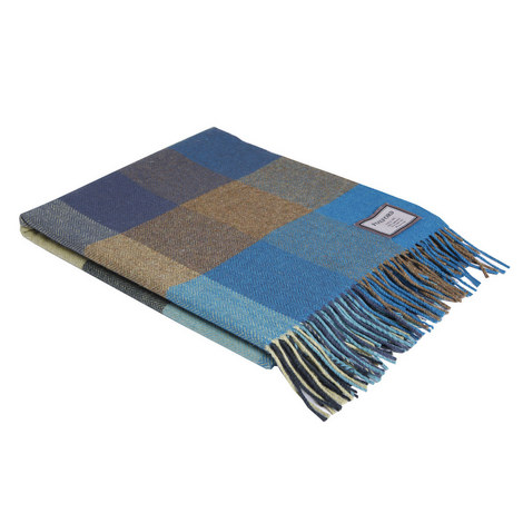 Large Check Peacock Throw, ${color}