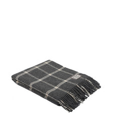 Windowpane Wool/Cash Throw