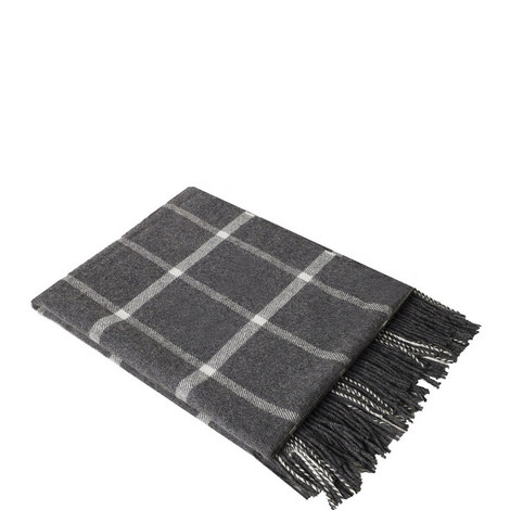 Ox Windowpane Cashmere Throw, ${color}