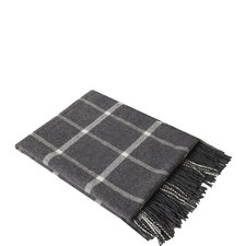 Ox Windowpane Cashmere Throw