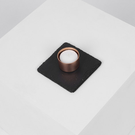 Copper and Slate Candle Holder, ${color}