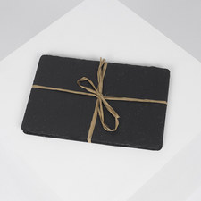 Set of Two Slate Rectangular Placemats