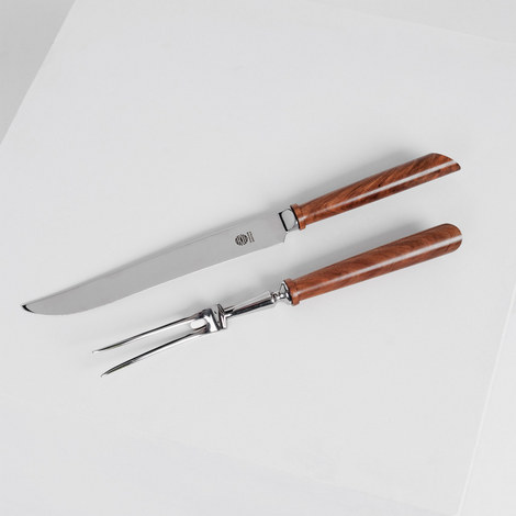 Sycamore Carving Knife and Fork Set, ${color}