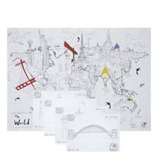 Ultimate Colouring Tube Kit World