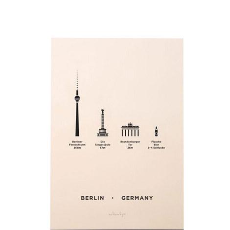 Berlin Screenprint A4, ${color}