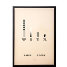 Dublin City Framed Screenprint A3