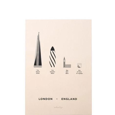 London City Print Screenprint A4, ${color}