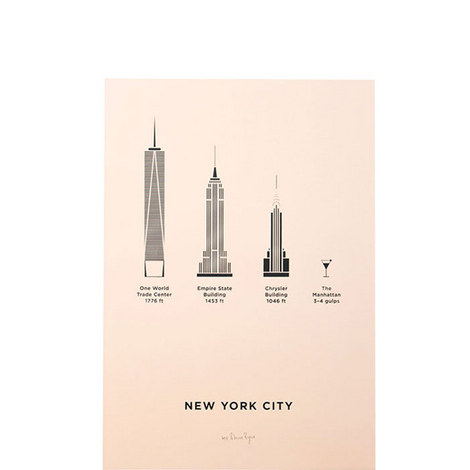 New York City Screenprint A4, ${color}
