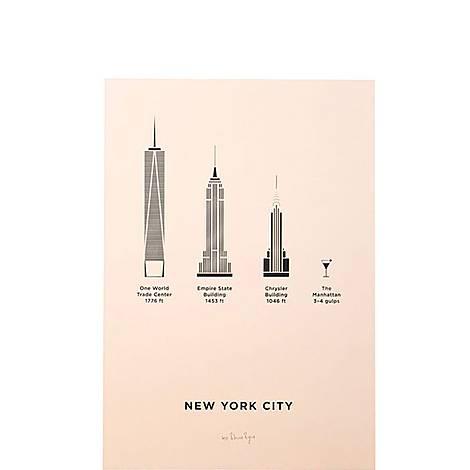 New York City Screenprint A4, ${color}