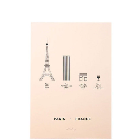 Paris Screenprint A4, ${color}
