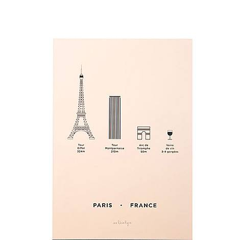 Paris Screenprint A4, ${color}