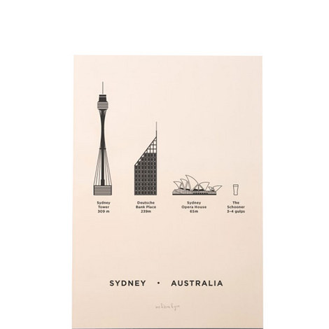 Sydney Screenprint A4, ${color}