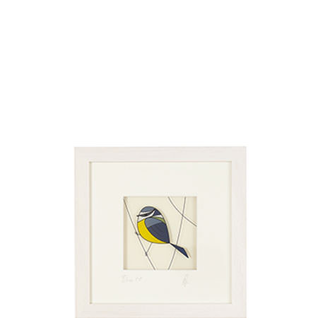 Blue Tit Glass Painting Framed, ${color}
