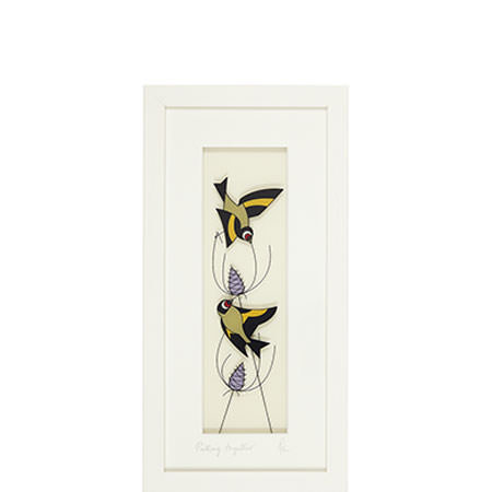 Pulling Together Glass Painting Framed, ${color}